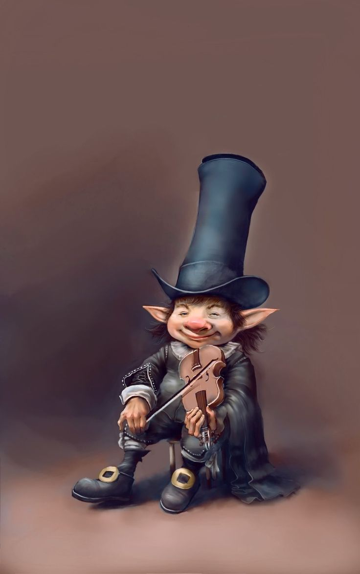 Troll the violinist, Ochir Tostaev on ArtStation at https://www.artstation.com/artwork/gXNrL