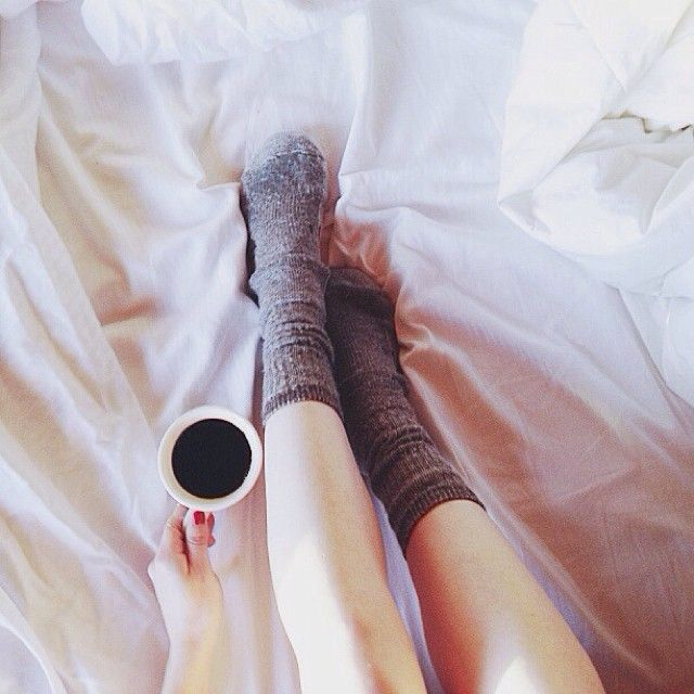 black coffee in bed.