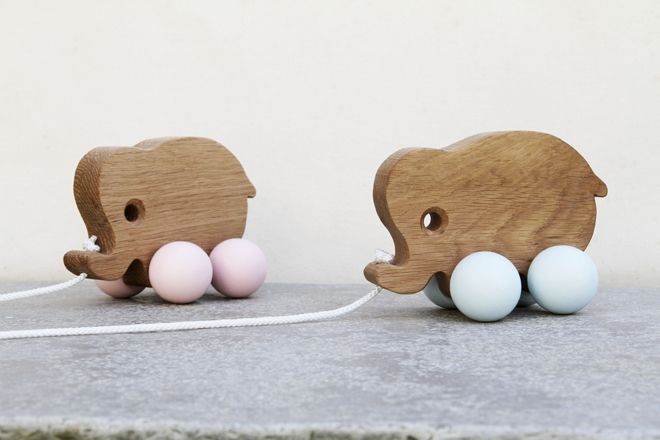 toys, wooden toys, wooden elephants, Easter gifts, Christening gifts, new baby gifts, Hop and Peck, published by Bobby Rabbit