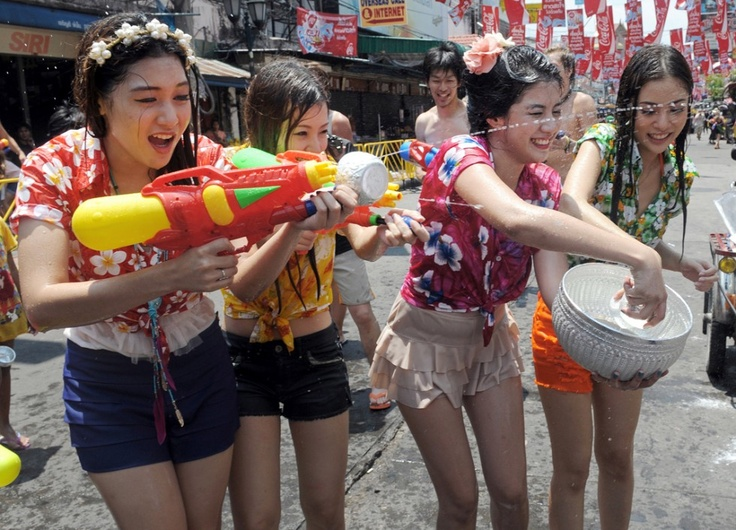 Image result for thai girls songkran