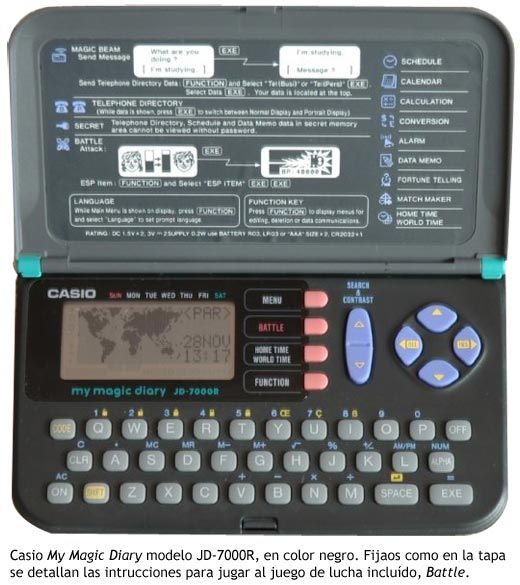 Casio My Magic Diary. My first ever gadget (at 12 years old). I had the kind that lets you change the channels on your TV. And I once cheated on a quiz using the secret messaging feature to swap answers with a friend. Hahahaha. Oh, Reg.