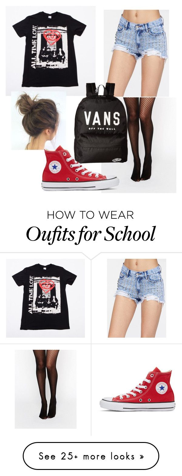 """""""Last week of school!!"""" by naomi-esperanza on Polyvore featuring Wolford, Vans and Converse"""