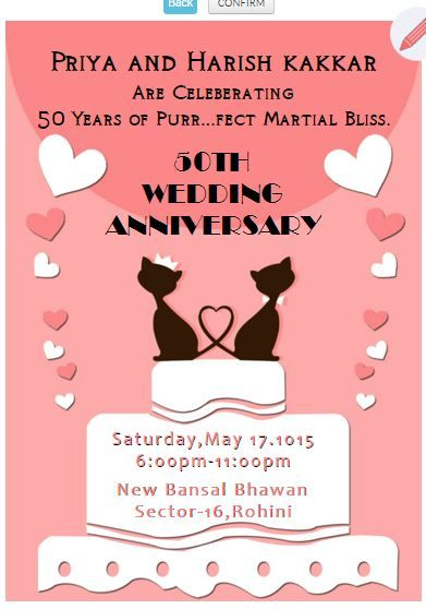 Pin By Free Online Invitations On Wedding Anniversary Invitation