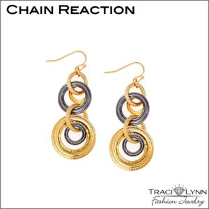 Multiple Sclerosis Fundraiser- Chain Reaction Earrings Traci Lynn Fashion Jewelry Starting Bid $7.00
