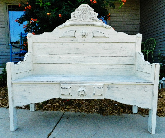 antique bed frame benches 2