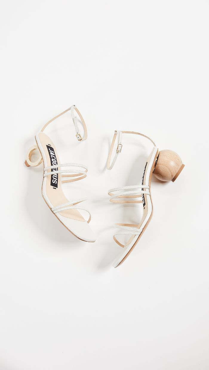 Strappy shoes, White strappy sandals