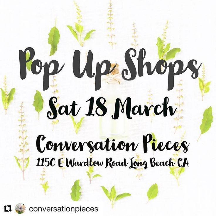 Save the Date - Pop-up at Conversation Pieces