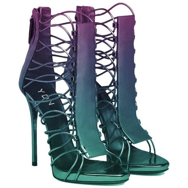 YDN Women Sexy Laces Sandals Open Toe Strappy High Heels Summer... ($55) ❤ liked on Polyvore featuring shoes, sandals, heels, strap heel sandals, wide strap sandals, strap sandals, strappy stiletto sandals and strappy sandals