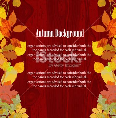 Autumn floral background. Royalty Free Stock Vector Art Illustration