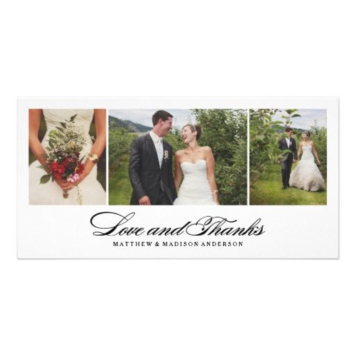 133 best love photo cards images on pinterest thanksgiving wedding timeless wedding thank you photo card stopboris Images