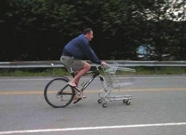 Bicycle Shopping Cart