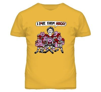 Joe Theismann #WashingtonRedskins Football Hogs NEW Gold TShirt