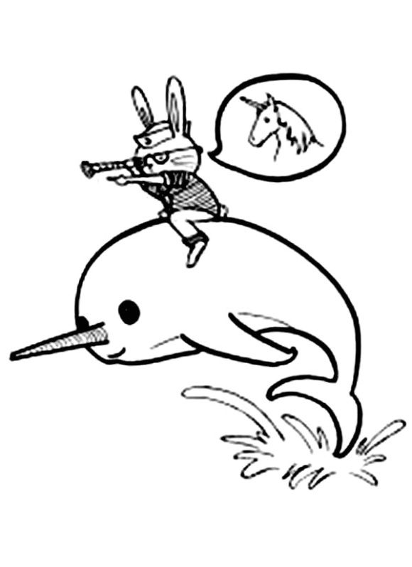 Narwhal Coloring Page Coloring Pages Daniel And The Lions Kawaii Narwhal