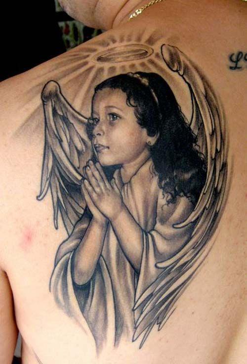 Tattoos 75 Anges Gardiens Et Leur Sens Ange Tattoos Angel