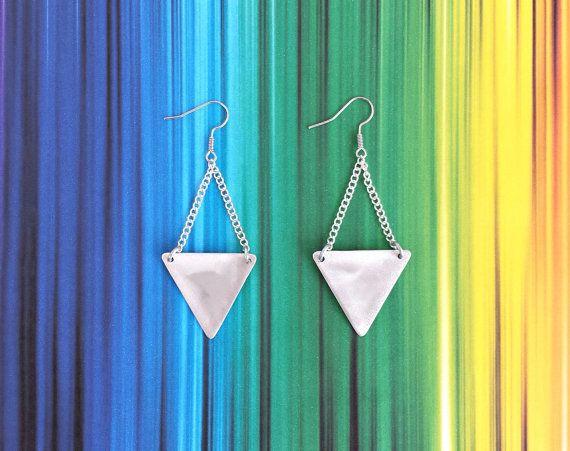 Triangle earrings - Hypoallergenic earrings - Handmade earrings - Dangle earrings. FREE SHIPPING WORLDWIDE