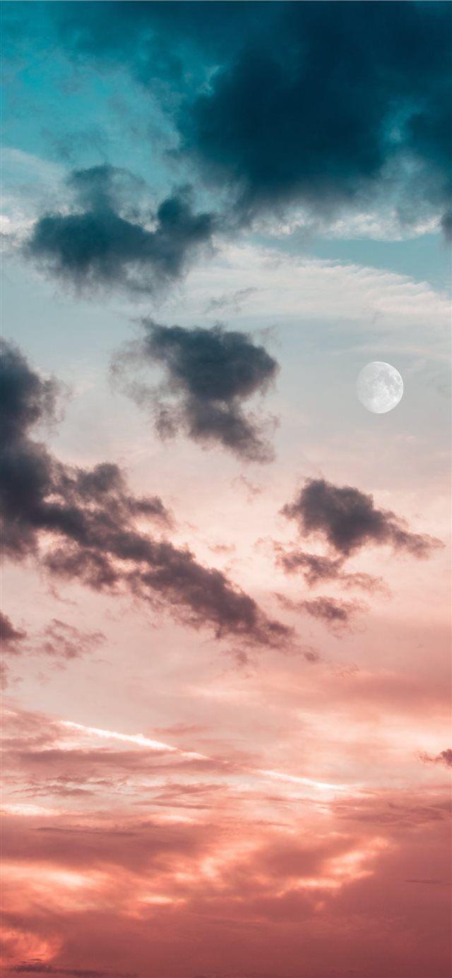 New moon iPhone X wallpaper #sun #nature #sunset #mobile #Wallpaper
