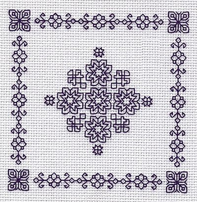 Snowflake Mini Blackwork Kit by Holbein Embroideries