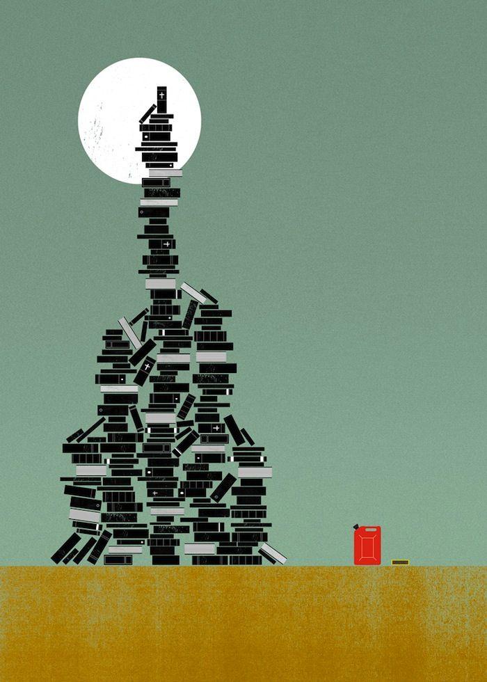 IlPost - Biblioclasm - La pratica di distruggere, spesso in modo solenne, libri o altri materiali scritti o media  [The practice of destroying, often ceremoniously, books or other written material and media]