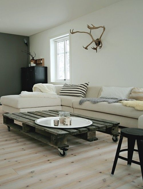 pallet sofa Make a New Coffee Table from Old Wooden Pallets