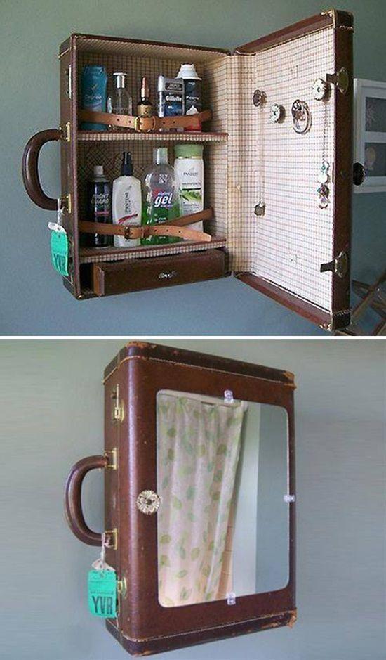 13 clevere Ideen, um Ihr Zuhause mit Vintage-Koffern zu dekorieren