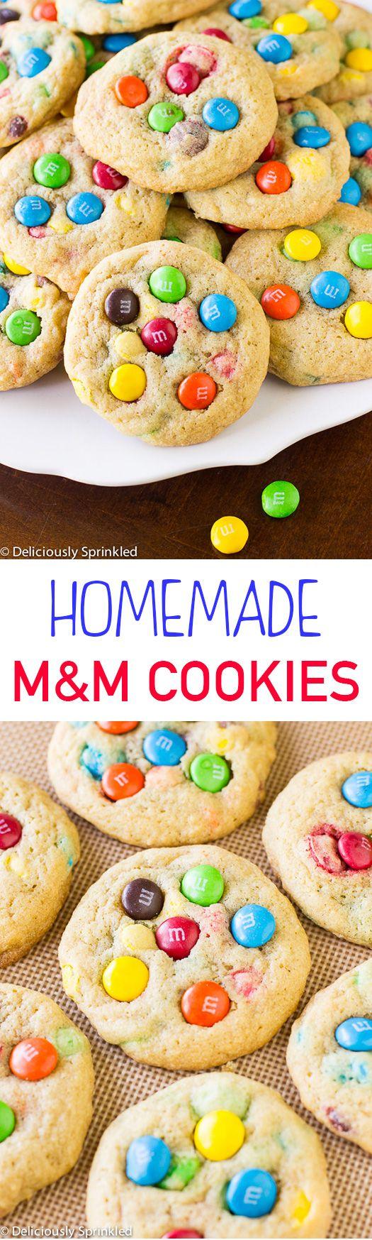 Homemade M&M Cookies
