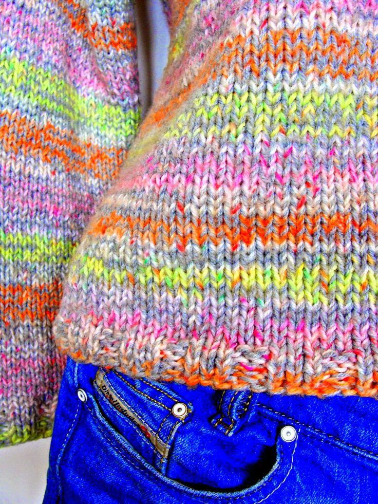 Summer Neon Sweater. #knitted, #handmade, #summer knits, #neon, #nudakillers