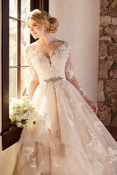 Wedding gown by Essense of Australia (Style D2186).