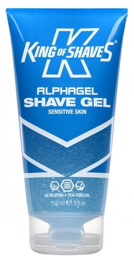 AlphaGel Shave Gel Sensitive Skin | King of Shaves. A brilliant product for sensitive places! I've experienced less redness, irritation and bumps whilst using it. And it doesn't dry out your skin or react with it, like some gels and foams can. It does carry the scent of essential oils, but is otherwise fragrance free. It's slightly more expensive than other products, but you get plenty of shaves out of it and not having a raging bikini line is definitely worth paying extra for! ;) 10/10