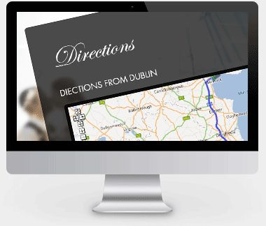 Whether you are having a local wedding, or leaving the country, our wedding websites will allow you to communicate helpful travel information to guests. We also provide an option for you to include map links for how to get there - making it so easy for your guests to plan their travel.  Click the monitor to read more about our wedding website features