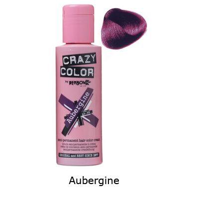 crazy color aubergine semi permanente haarverf crazy color attitu - Coloration Semi Permanente Rouge