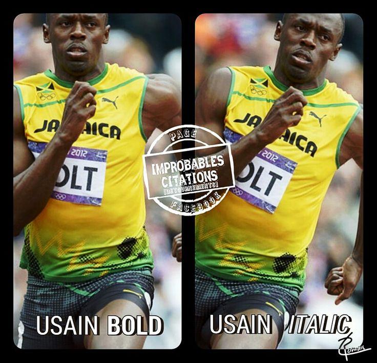 Usain Bold / Usain Italic