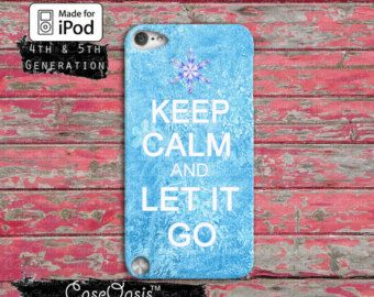 Keep Calm And Let It Go Frozen Inspired Elsa Quote Cute Case iPod Touch 4th Generation or iPod Touch 5th Generation Rubber or Plastic Case