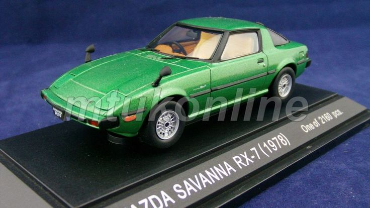 EBBRO 1999 | MAZDA SAVANNA RX-7 1978 | 1/43 | GREEN | LIMITED 2,160PCS