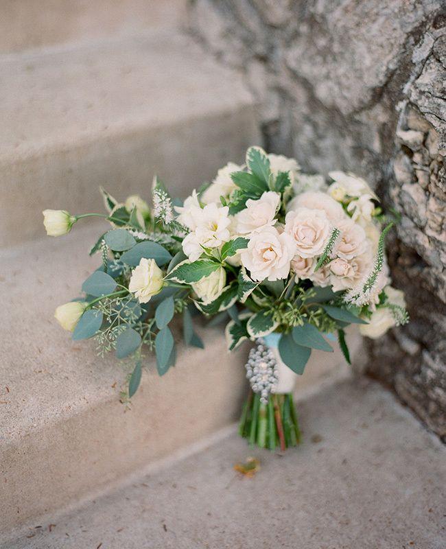 eucalyptus bridal bouquet | Lisa Hessel Photography | Blog.theknot.com