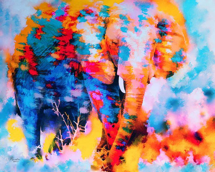 Elephant Impression Painting  - Elephant Impression Fine Art Print
