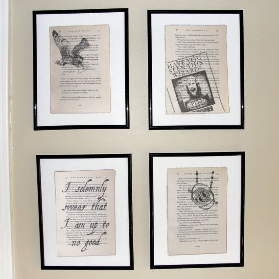 Harry Potter Prisoner of Azkaban - Upcycled book page art prints - Home decor - Great for framing on Etsy, $5.00