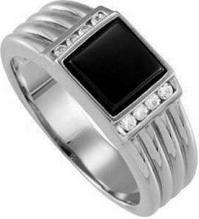 #Jewelry #Rings Mens Platinum  Diamond & Onyx Ring