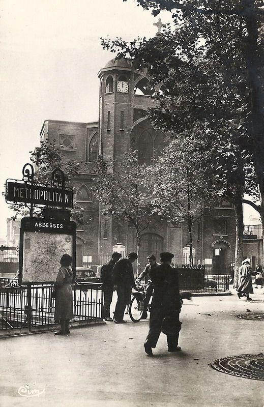 Place des Abbesses, 1912. Paris