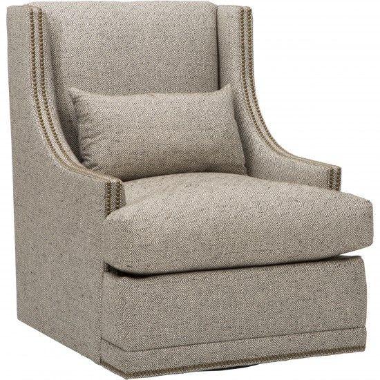 Lindsay Swivel Chair, Greek Key