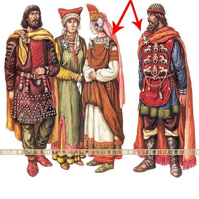 Историческая одежда древних славян в 3 в. до н.э. - 9 веке н.э.