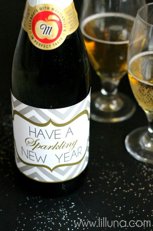 sparkling cider new year prints christmas gifts pinterest gifts christmas and christmas gifts
