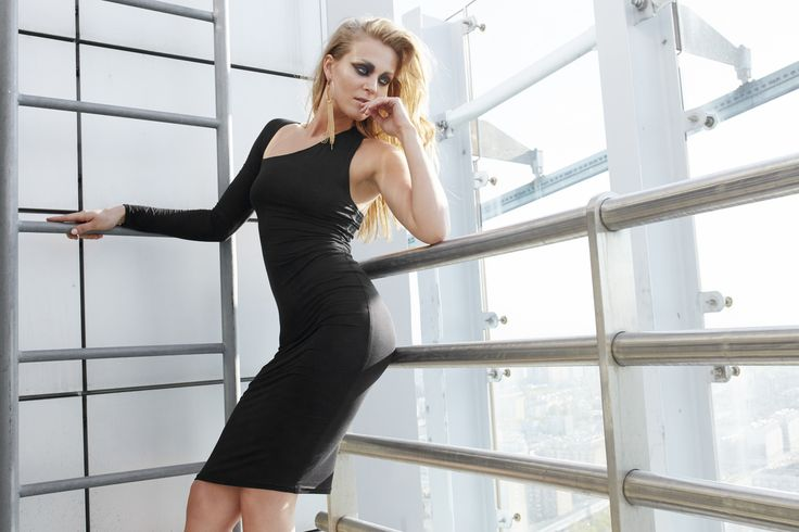 Larve' by Papillon- Black tube dress with one sleeve #papillonatelier #sexy #trends #fashion #polishbrand