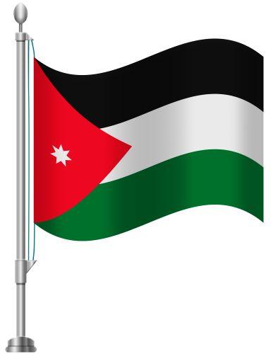 Jordan Flag PNG Clip Art