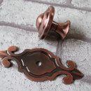 Möbelgriffe - Rot Bronze Möbelknauf Knäufe Möbelgriff Antik St - ein Designerstück von LynnsGraceland bei DaWanda