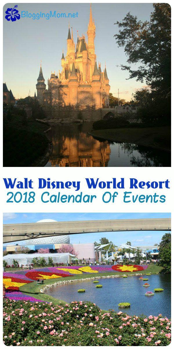 Walt Disney World 2018 Calendar of Events