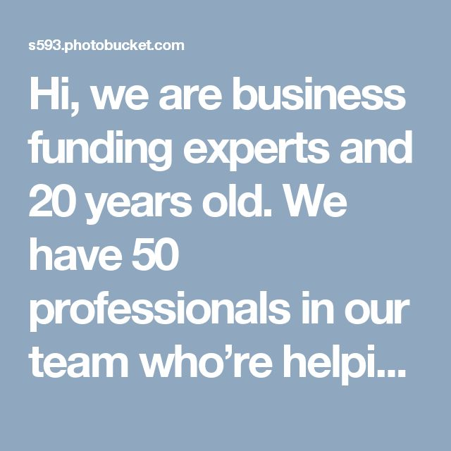 Hi, we are business funding experts and 20 years old. We have 50 professionals in our team who're helping you with funding options and in loan process. Our loan options include small business loan, business cash advance, working capital loans, business credit lines, bad credit business loans, merchant cash advance, restaurant loans, franchise financing and check processing (check by phone, E-check online, check guarantee). Contact us at info@merchantadvisors.com or call at (800)-870-7622.