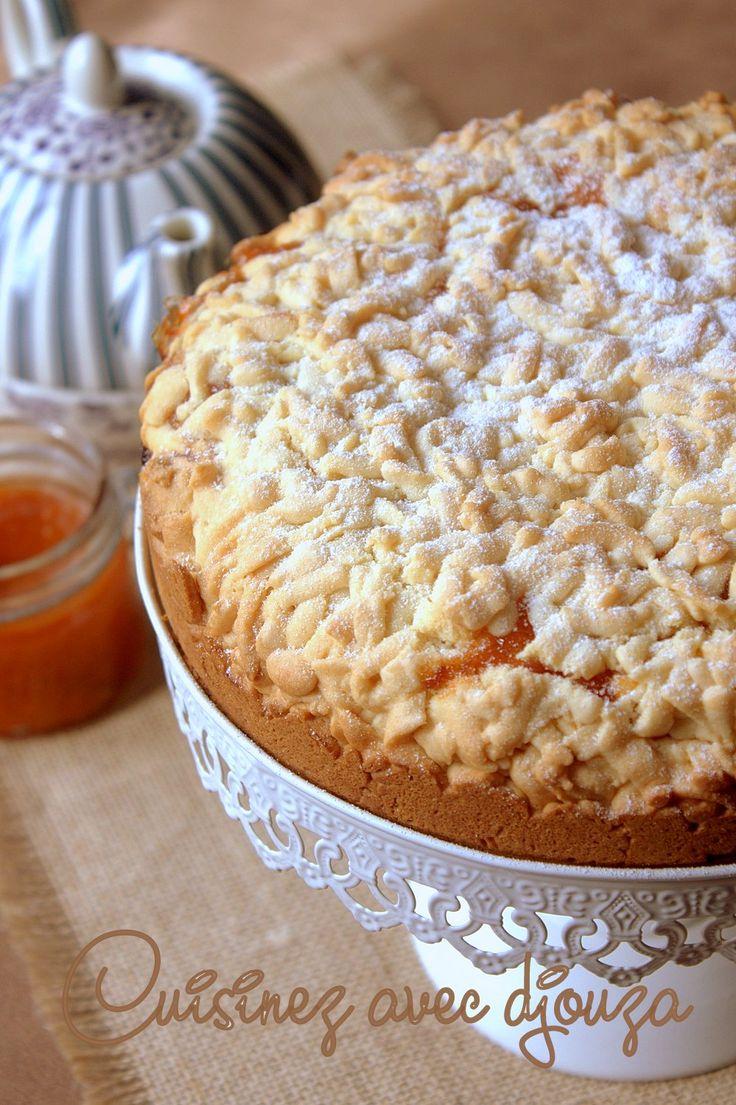 Mderbel algérien, délicieux biscuit ou gâteau sec à la confiture d'abricots. J'ai réalisé ce gâteau pour le goûter en partant de mesures simples.