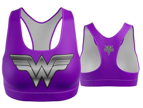 Custom Wonder Woman Sports Bra Purple | Yoga Bra | Women's Bra | Yoga Top | Gym Bra | Yoga Wear | Gym Bra | Exercise Bra | Workout Top | Bikini Top | Plus Size Bra | Bra | SportsBra | Work Out Bra | Gym Wear | Super Hero Bra | DC Comics | WonderWoman | Girl Power | S Womens Sports Bra Made in the USA. -Custom Sports Bra designed, printed, cut and sewn to order in Phoenix, AZ -Great gift for her -82% Polyester / 18% Spandex blend. -4 way stretch which means fabric stretches and recovers b...