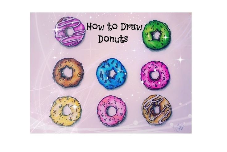 How to Draw Donuts | Ioana Cotuna ♡