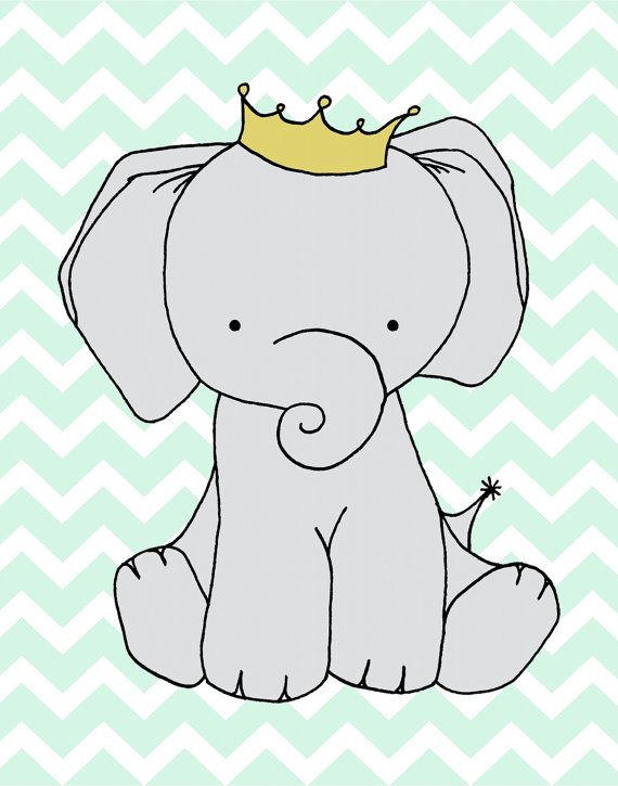 Custom Listing Elephant Nursery Art --Nursery Decor -- Elephant Art Print…